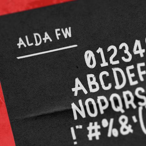 Alda-FW Font Design von Fabian Wolfram