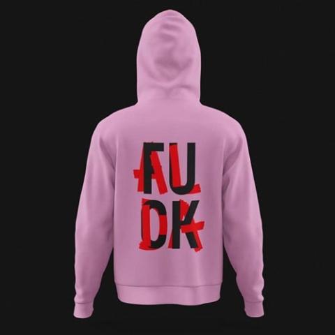 Moin Alda Fuck Alda Hoodie pink unisex Wilke Zierden Shop