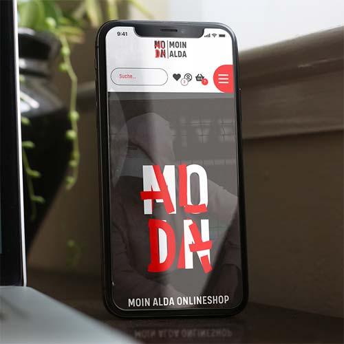 Screendesign für  Moin-Alda.shop - Wilke Zierden Shop