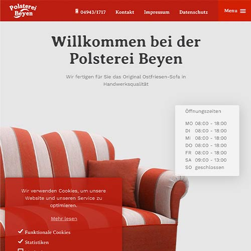Polsterei Beyen Website Redesign